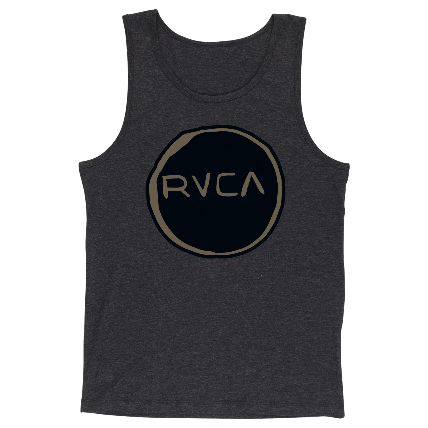 Surf Key Features of the RVCA Melt Circle Tank: 55% Polyester/45% Cotton Vintage Dye Slim Fit tank with front print and screened inside neck - $26.00
