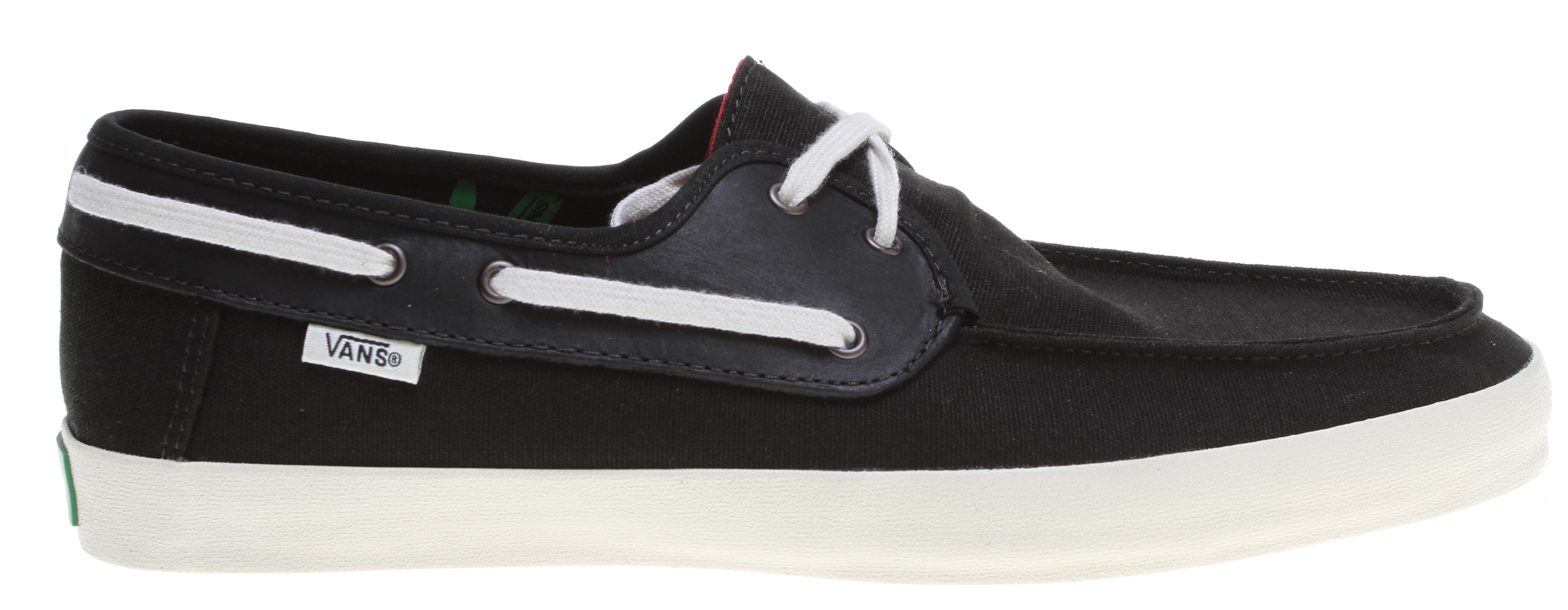 Skateboard Key Features of the Vans Chauffeur Shoes: 100% natural hemp or canvas uppers, with leather or suede details Removable & washable super comfy vanslite footbeds Ultra-flexible vulcanized gum rubber outsole Made with water-based inks and glues classic fit style - $62.00