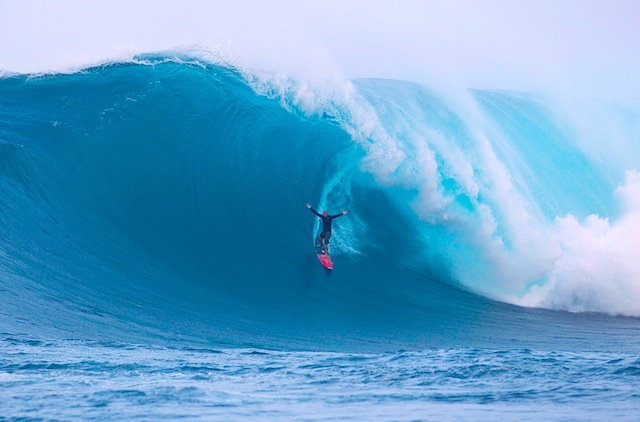 Surf Danny Fuller was one of the big-wave hunters who chased the massive swell to Fiji