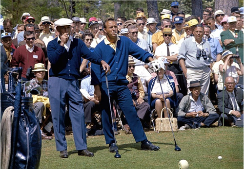 Golf smoking was actually mandatory until the early 70's on tour…so were blue cardigans