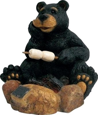 Camp and Hike Everyone loves the taste of a perfectly toasted marshmallow even this little bear. A fun accent for your garden, front porch or yard, this hand-painted, solar-powered bear will add a bit of light and life to your home. Integrated LEDand battery. Dimensions: 13H x 10W x 9D. Color: Garden. Type: Solar Lights. - $59.99