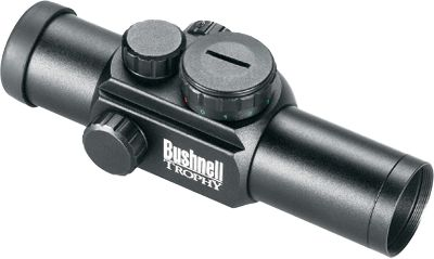 Hunting Bushnells AR Optics Red/Green-Dot Sight features 30mm aluminum tubes and waterproof, fogproof, shockproof construction with the option of toggling between a red or green dot. Designed with optical accuracy, rugged dependability and unfailing performance specifically for a tactical platform, five brightness settings and multicoated optics deliver crisp images even in low-light conditions. 6-MOA configuration and four reticle options. Target turrets for pinpoint-precise adjustments. Includes 30mm rings and one CR-2032 battery. Color: Red. - $77.88