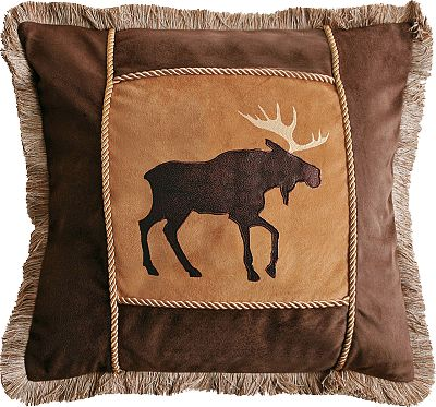 Hunting Enjoy the softer side of nature with Carstens Decorative Pillows. Made of 100% polyester microsuede for supreme softness and durability. Earth-tone colors and outdoor designs give these pillows visual appeal. All styles have brush fringe and a zippered closure. Pine Cone, Brown Moose and Plaid Buck pillows feature a decorative cord. Welcome style features faux-leather sides and strong welt seams. Form included. Dry-clean only. Imported. Dimensions: Pine Cone 18 x 18. Welcome 14 x 26. Brown Moose 18 x 18. Plaid Buck 18 x 18. Size: BROWN MOOSE 18X18. Color: Brown. Type: Decorative Pillows. - $24.99