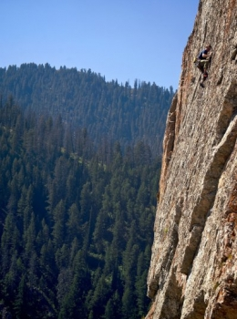 Climbing Rodeo Wall, Wyoming