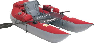 Wake Now those hard-to-reach fishing spots are all the more accessible and enjoyable with Classic Accessories Chehalis backpackable pontoon boat. This frameless pontoon weighs only 35 lbs. and easily folds up, along with its oars, into a small, included heavy-duty, polyester-nylon carry bag. This carry bag can be worn like a backpack, so your hands are free to carry your tackle and rod, and features a durable water-repellent finish. The hydrodynamic hull shape is easy to maneuver with the included three-piece oars and their swiveling oarlocks. The pontoon bladders are cold- and heat-resistant with two-way, quick inflation/deflation valves (pump sold separately). The adjustable seat is extra-high for drier fishing and improved visibility. Four zippered cargo pockets, a fabric storage platform behind the seat and a fabric pocket behind the seat hold essential gear like a tackle box, cooler and dry bag. Anchor system is comprised of a fillable mesh bag off the back. Stabilizer straps on both sides make it safe to use in calm fresh- and saltwater conditions. Stripping apron with fish ruler. Not recommended for open-sea fishing. Manufacturers one-year warranty. Imported.Assembled size: 96L x 47.5W x 29H.Backpack: 28L x 13W x 18H.Weight capacity:350 lbs.Color: Ruby Red. Type: Pontoons. Color Chehalis Pontoon. - $499.99