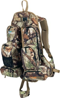 Hunting Excalibers Ex-Pack Crossbow Backpack allows you to easily transport your crossbow and have instant access by disengaging the quick-release strap. A quick-detach quiver keeps bolts handy. Weather-resistant Polarfleece construction keeps the pack silent. Six zippered pockets provide 900 cu. in. of storage. Padded shoulder straps with integrated pivot points allow unobstructed freedom of movement. Vented backing and nylon mesh allow air to circulate. Adjustable padded waistbelt with lumbar support keeps the pack secure and disburses weight through your hips. Wt: 2.1 lbs. 26H x 14W x 3D. Capacity: 900 cu. in. - $109.88