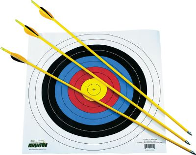 Hunting If you want your young archer to have fun hitting the bulls-eye, give him or her the right equipment. These durable 26 arrows are perfect for youth recurves. Set includes three 26 arrows and a colorful paper target. - $9.88