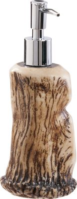Hunting Designed with a superb combination of aesthetics and functionality, the Faux-Antler Lotion Dispenser ushers the beauty and authenticity of nature into your home. Dispenser is modeled from real shed elk antlers using quality resin and painstakingly hand-stained for unparalleled realism. Dispenser also works well for liquid soaps. Dimensions: 8H x 3W. - $14.99