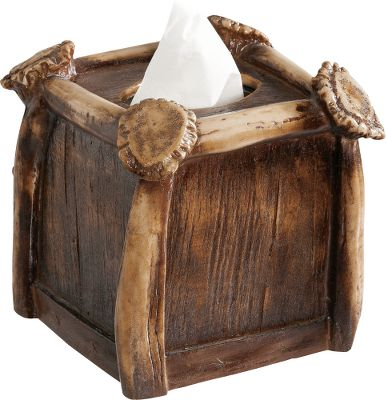 Hunting Designed with a superb combination of aesthetics and functionality, the Faux-Antler Tissue Box Cover ushers the beauty and authenticity of nature into your home. Cover is modeled from real shed whitetail and mule deer antlers using quality resin and painstakingly hand-stained for unparalleled realism. Fits over standard-size square tissue boxes. Dimensions: 7L x 7W x 7H. Type: Tissue Box Covers. - $29.99