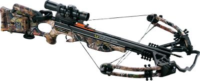 Hunting TenPoint has a complete line of crossbows. The TenPoint Carbon Fusion CLS Crossbow Package with ACUdraw featuring a woven carbon-fiber barrel is 20 oz. lighter than the original Phantom CLS and produces a quiet, vibration-free shot. Noise-eliminating aluminum rivet nuts float the barrel inside the stock, reducing vibration. The Compact Limb System (CLS) features 12 IsoTaper limbs fitted with maximum-rotation cams and a D-75 string and cables. It is 16.9 axle-to-axle when cocked. With a 185-lb. draw weight, it shoots arrows up to a blistering 345 fps while generating 113 ft.-lbs. of kinetic energy. Black riser, limb pockets and MR cams. Made in USA.Speed: 345 fps.Power stroke: 13.Draw weight: 185 lbs.Length: 38.5.Width: 20.5.Weight: 7.2 lbs. (10.8 lbs. with accessories).Camo pattern: Realtree AP.TenPoint Carbon Fusion CLS package includes: crossbow, Rangemaster Pro Scope with 7/8 rings, ACUdraw cocking mechanism, compact-limb soft case, Bowjax silencer kit, six Carbon Pro Elite SuperBrite bolts with practice points, three-bolt quiver, 7/8 fixed dovetail mount and GripGuard. Type: Crossbows. IBO Speed (fps): 326-350. - $1,299.88