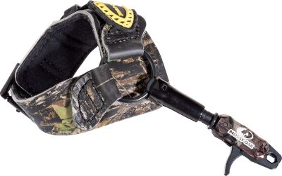 Hunting Tru-Fires Mossy Oak Buckle Foldback Release features a self-centering, free-floating steel roller that delivers an ultrasmooth release. This steel roller moves along the inside of the jaws, not over them, adding to its even, easy release. Teflon-coated, heat-treated jaws and triggers are durable enough to serve you through years of use. This Mossy Oak version features a foldback leather buckle strap that fits both right- and left-handed shooters and a 32-position length adjustment system for a perfect fit. Adjustable trigger pressure. - $74.99