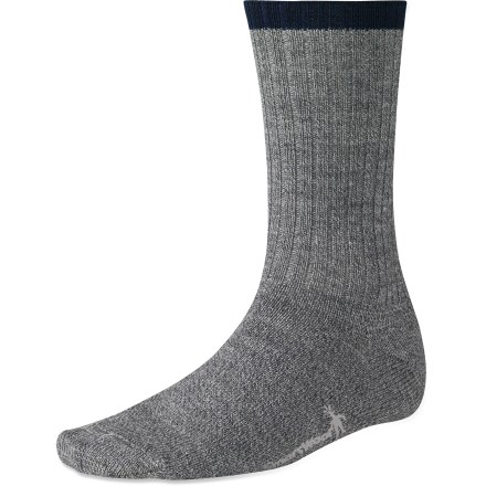 Camp and Hike The classic SmartWool Adventurer socks are built tough for your treks into the mountains. Medium cushioning pads your feet while you hike over rocks and roots on the way to the summit. Merino wool provides excellent temperature control and moisture management; added stretch nylon maintains the fit. WOW(TM) (wool on wool) technology increases wool content in the heel and forefoot area, improving durability and overall comfort. SmartWool socks are guaranteed not to itch and can be repeatedly washed and dried without shrinking. Closeout. - $10.73