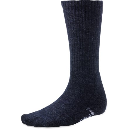 The SmartWool Heathered Rib socks have built-in cushioned comfort to get you through your daily adventures. Merino wool provides excellent temperature control and moisture management, so you're warm when it's cold and cool when it's warm. WOW(TM) (wool on wool) technology increases wool content in the heel and forefoot area, improving durability and overall comfort. Medium cushioning for comfort. SmartWool socks are guaranteed not to itch and can be repeatedly washed and dried without shrinking. Closeout. - $10.73
