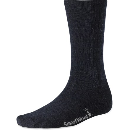 With light cushioning, the SmartWool New Classic Rib socks will soothe your soles and keep you comfortable during long days on your feet. Merino wool provides excellent temperature control and moisture management, so you're warm when it's cold and cool when it's warm. WOW(TM) (wool on wool) technology increases wool content in the heel and forefoot area, improving durability and overall comfort. SmartWool socks are guaranteed not to itch and can be repeatedly washed and dried without shrinking. Closeout. - $10.73