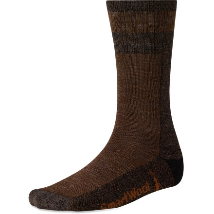 The comfortable SmartWool Traverser socks will quickly become your go-to socks for everyday wear. Merino wool provides excellent temperature control and moisture management; reinforced with stretch nylon to maintain fit. WOW(TM) (wool on wool) technology increases wool content in the heel and forefoot area, improving durability and overall comfort. Arch braces provide support; medium cushioning provides comfort underfoot. SmartWool socks are guaranteed not to itch and can be repeatedly washed and dried without shrinking. Closeout. - $11.93