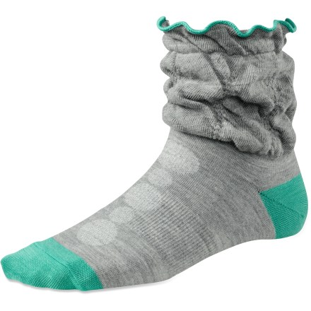 Hitting just a bit higher than your ankle, the SmartWool Porchini Scrunch socks have a slim, light design that is great for everyday, warm-weather wear. - $6.73