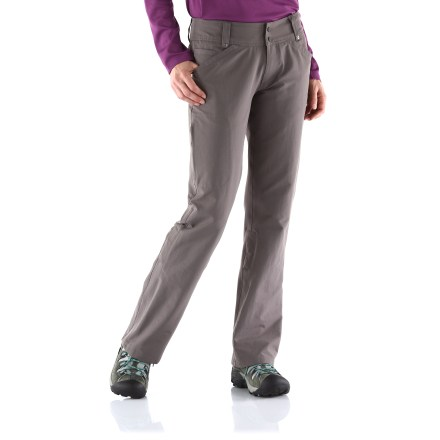 Camp and Hike Backpacker-friendly, the Isis Zola pants have a flat, clean waistband that won't irritate under a backpack hipbelt. The Isis Zola pants easily convert to capris with roll-up tabs. Nylon/spandex blend provides good stretch and durability for hiking. - $38.83