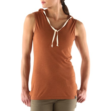 Surf The Arbor Westwood tank top has a hood for extra comfort and a little protection. Lightweight viscose from bamboo and polyester jersey fabric provides soft, breathable comfort. - $18.83