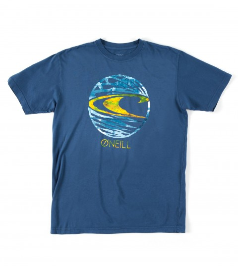 Surf O'Neill Fader Tee.  100% Ringspun cotton.  30 singles modern fit garment dyed tee with softhand screenprint. - $22.00