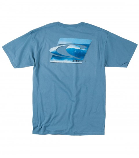 Surf O'Neill Groundswell Tee.  100% Cotton.  20 singles classic fit tee with softhand screenprint. - $20.00