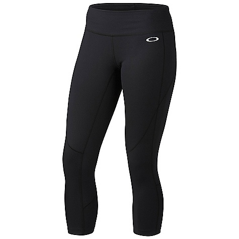 "Free Shipping. Oakley Women's Power Capri DECENT FEATURES of the Oakley Women's Power Capri 90% Supplex Nylon / 10% Lycra active capris O-Form technology for fit, resilient stretch and shape retention Moisture management plus antibacterial action to help control odor Shiny coverstitch seams / reflective icon accent 90% Supplex Nylon / 10% Lycra(R) active capris Inseam: 21"" UV shielding Hidden key pocket - $68.00"