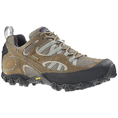 Camp and Hike Free Shipping. Patagonia Women's Drifter A-C Gore-Tex Shoe DECENT FEATURES of the Patagonia Women's Drifter A/C Gore-Tex Shoe Waterproof breathable air mesh and nubuck leather upper Breathable bellows tongue to keep out debris Gore-Tex fabric waterproof/breathable lining 20% recycled EVA anatomical footbed provides cushioning, comfort and support Patagonia Air Cushion Plus provides shock absorption Bi-Fit 80% post consumer recycled polyurethane waterproof insole board provides support and stability underfoot Vibram Trail Ecostep outsole with 30% recycled rubber provides excellent traction Gore-Tex gasket waterproof/breathable construction Last characteristics: Medium width, full toe box, medium arch/instep The SPECS Weight: 1/2 pair: 12.4 oz Better leather Gore-Tex Firm Support/flex Eco step - $164.95