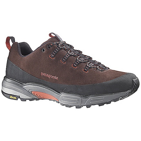 Fitness Free Shipping. Patagonia Men's Scree Shield Shoe DECENT FEATURES of the Patagonia Men's Scree Shield Shoe Durable suede leather upper for protection Rubber rand and toe bumper for durability and protection Dynamic Fit Lacing System provides a precise and secure fit 20% recycled EVA anatomical footbed provides cushioning, comfort and support 2mm 15% recycled EVA insole provides extra cushioning Single density 15% recycled EVA footframe provides pronation and stabilization control Forefoot shock absorption pad protects metatarsal TPU Shock Plate distributes pressure and protects the foot TPU Arch Bridge provides midfoot stability and alignment Multi-surface high density TPU studs in outsole forefoot provide traction in uneven terrain Gender-specific Vibram Release trail running soles with TC5+ rubber compound provides excellent grip and traction with specific tread placement for men Last characteristics: semi-curved last, medium width, medium arch support, performance fit The SPECS Weight: 1/2 pair: 14.1 oz Better leather Medium Support/flex Vibram - $129.95