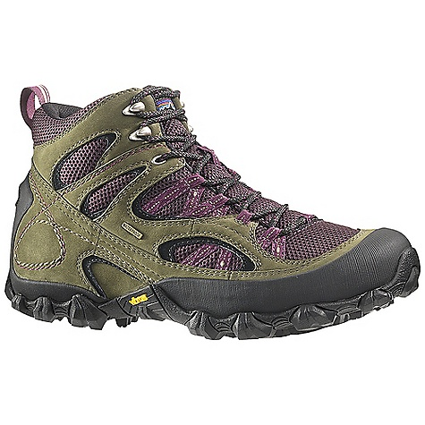 Camp and Hike Free Shipping. Patagonia Footwear Women's Drifter A-C Waterproof Mid Boot DECENT FEATURES of the Patagonia Women's Drifter A/C Waterproof Mid Boot Waterproof breathable air mesh/durable waterproof nubuck leather upper Breathable bellows tongue to keep out debris 20% recycled EVA anatomical footbed provides cushioning, comfort and support Patagonia Air Cushion Plus provides shock absorption Bi-Fit 80% post consumer recycled polyurethane waterproof insole board provides support and stability underfoot Vibram Trail Ecostep Outsole with 30% recycled rubber provides excellent traction Construction: waterproof bootie Last characteristics: Medium width, full toe box, medium arch instep The SPECS Weight: 1/2 pair: 15.7 oz Better leather Waterproof construction Firm Support/flex Eco step - $184.95