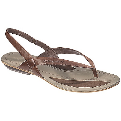 Surf Free Shipping. Patagonia Women's Bandha Sling Sandal DECENT FEATURES of the Patagonia Women's Bandha Sling Sandal Full grain leather upper Glove-like pigskin lining provides luxurious feel and comfort Latex foam footbed for superior comfort and support Patagonia Air Cushion technology in heel for comfort 2mm steel shank provides underfoot stability and proper flex in forefoot Recycled synthetic leather sole with 20% recycled rubber heel and forefoot pads for added traction cushioning and durability Construction: Cement Last characteristics: medium width, toe box and arch support The SPECS Weight: 1/2 pair: 4.1 oz Better Leather Medium Support/flex Recycled Rubber - $99.95