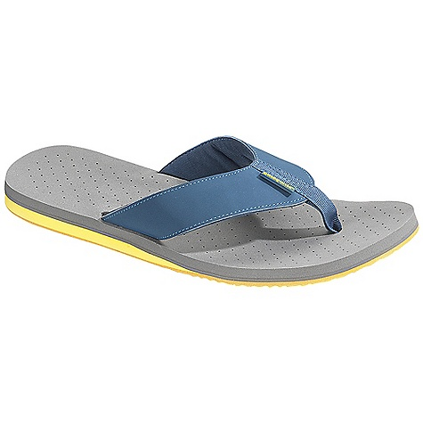 Surf Free Shipping. Patagonia Footwear Men's Reflip Sandal DECENT FEATURES of the Patagonia Men's Reflip Sandal Supportive 3-point synthetic leather thong construction with recycled nylon toe post for comfort Jersey polyester mesh lining for durability and comfort Super soft high density Plusfoam footbed for long-term cushioned comfort and durability Closed cell construction resists moisture and bacteria build-up Durable high density Plusfoam outsole provides excellent traction on wet/dry surfaces Footbed and sole are 100% recyclable through Plusfoam.com Soft Flex Last Characteristics: Medium width, Medium arch/instep The SPECS Weight: 1/2 pair: 3.52 oz Vegan friendly Soft support/flex Plus Compounds and Plusfoam - $54.95