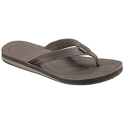 Surf Free Shipping. Patagonia Men's Upflip Sandal DECENT FEATURES of the Patagonia Men's Upflip Sandal Supportive 3-point synthetic leather thong construction with recycled nylon toe post for comfort Jersey polyester mesh lining for durability and comfort Super soft high density Plusfoam footbed for long-term cushioned comfort and durability Closed cell construction resists moisture and bacteria build-up Durable high density Plusfoam outsole provides excellent traction on wet/dry surfaces Footbed and sole are 100% recyclable through Plusfoam.com Soft Flex Last Characteristics: Medium width, Medium arch/instep The SPECS Weight: 1/2 pair: 5.7 oz Vegan friendly Soft support/flex Plus Compounds and Plusfoam - $59.95