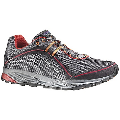 Free Shipping. Patagonia Men's Tsali 2.0 Shoe DECENT FEATURES of the Patagonia Men's Tsali 2.0 Shoe Durable breathable air mesh upper perfed nylon reinforcement for durability and breathability Direct applied rubber toe bumper provides durability and protection Reflective webbing and heel for high visibility Dynamic lacing system provides a precise fit 100% polyester moisture wicking ventilated air mesh collar and tongue lining 20% recycled EVA anatomical perforated footbed supports, cushions and molds to the contour of your foot Forefoot shock absorption pad and flex grooves provide forefoot protection and flex with gender specific lightweight 15% recycled EVA footframe 0.8mm forefoot shock absorption plate distributes pressure, protecting the foot while maintaining forefoot flexibility Multi-density sticky rubber outsole provides 360 degree wet/dry traction in varying conditions Last characteristics: Medium width, medium arch support, performance true to size Moisture-wicking mesh upper and lining X-Dynamic lacing and internal support system secures midfoot 25% lighter EVA footframe with added heel cushion and metatarsal protection The SPECS Weight: 1/2 pair: 10.2 oz Vegan friendly Medium Support/flex - $114.95