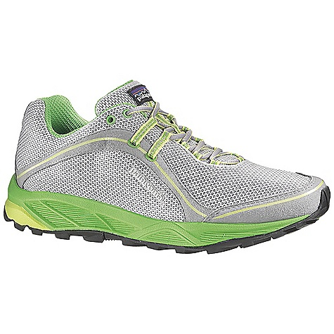 Free Shipping. Patagonia Footwear Women's Tsali 2.0 Shoe DECENT FEATURES of the Patagonia Women's Tsali 2.0 Shoe Durable breathable air mesh upper; perfed nylon reinforcement for durability and breathability Direct applied rubber toe bumper provides durability and protection Reflective webbing and heel for high visibility Dynamic lacing system provides a precise fit 100% polyester moisture wicking ventilated air mesh collar and tongue lining 20% recycled EVA anatomical perforated footbed supports, cushions and molds to the contour of your foot Forefoot shock absorption pad and flex grooves provide forefoot protection and flex with gender specific lightweight 15% recycled EVA footframe 0.8mm forefoot shock absorption plate distributes pressure, protecting the foot while maintaining forefoot flexibility Multi-density sticky rubber outsole provides 360 degree wet/dry traction in varying conditions Last characteristics: Medium width, medium arch support, performance true to size Moisture-wicking mesh upper and lining X-Dynamic lacing and internal support system secures midfoot 25% lighter EVA footframe with added heel cushion and metatarsal protection The SPECS Weight: 1/2 pair: 8.7 oz Vegan friendly Medium Support/flex - $114.95