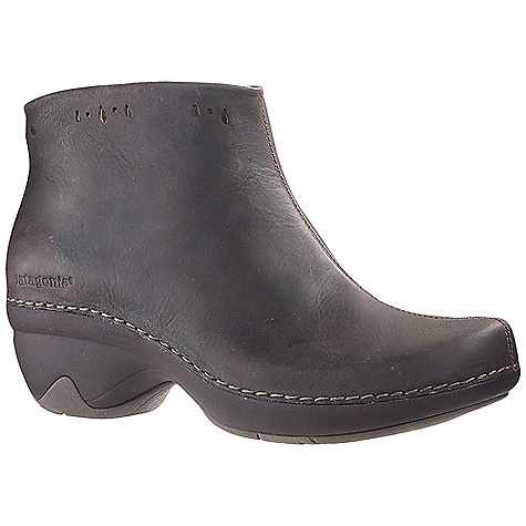 Free Shipping. Patagonia Women's Better Clog Boot DECENT FEATURES of the Patagonia Women's Better Clog Boot Full grain leather upper Inside zip for easy entry/exit Glove-like pigskin linings for comfort and durability Latex footbed with glove-like pigskin linings for comfort and durability Patagonia Air Cushion technology in heel for comfort Light-weight, high-abrasion resistant PU midsole in.Glide Rightin. platform: heel strike and toe spring combine for a comfortable and smooth heel-to-toe transition 20% recycled rubber outsole for traction and durability rubber extends on the lateral and medial sides of the heel for additional stability Shaft Height: 9.5 cm / 3.7 inches (top of heel to top of boot) Heel height: 3.5 cm / 1.4 inches (Italian way: heel axis, about middle of heel at top, to bottom of sole) Construction: Sidewall stitched Last characteristics: medium width, medium toe box, medium arch support The SPECS Weight: 1/2 pair: 12.5 oz Better Leather Firm Support/flex Hevea Natural Latex Recycled Rubber - $149.95