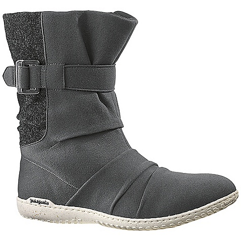 Free Shipping. Patagonia Women's Kula Buckle Boot DECENT FEATURES of the Patagonia Women's Kula Buckle Boot Durable, soft microfiber upper for comfort Inside zip for easy foot entry 3mm Secured latex footbed with mesh lining for comfort Recycled Rubber (up to 20%) and rice husk sole with low profile, 2mm lugs for grip on slick surfaces Construction: Strobel Shaft Height: 14 cm (top of heel to top of boot) Last Characteristics: Medium width, Full toe box, Medium arch/instep The SPECS Weight: 1/2 pair: 10.6 oz Vegan friendly Soft support/flex Recycled Rubber - $139.95