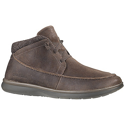 Free Shipping. Patagonia Footwear Men's Maui Chukka Boot DECENT FEATURES of the Patagonia Men's Maui Chukka Boot Durable full grain leather upper Breathable, moisture-wicking mesh lining 20% Recycled EVA footbed provides support and comfort Patagonia Air Cushion Plus provides shock absorption 20% Recycled EVA midsole provides cushioning and comfort Maui high abrasion EVA outsole provides the ultimate lightweight platform Construction: Strobel Last Characteristics: Medium width, Full toe box, Medium arch/instep The SPECS Weight: 1/2 pair: 8.5 oz Better Leather Soft support/flex - $114.95