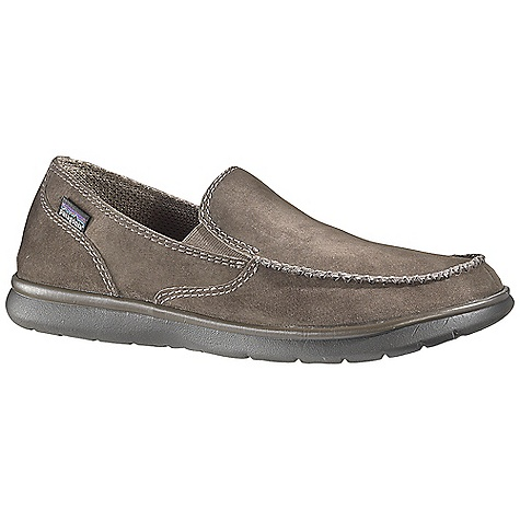 Free Shipping. Patagonia Footwear Men's Maui Smooth Shoe DECENT FEATURES of the Patagonia Men's Maui Smooth Shoe Stain-resistant pigskin upper Glove-like pigskin lining for comfort 20% Recycled EVA footbed provides support and comfort Patagonia Air Cushion Plus provides shock absorption 20% Recycled EVA midsole provides cushioning and comfort Maui high abrasion EVA outsole provides the ultimate lightweight platform Construction: Slip lasted Last Characteristics: Medium to wide width, Full toe box, Medium arch/instep The SPECS Weight: 1/2 pair: 6.34 oz Better Leather Soft support/flex - $89.95