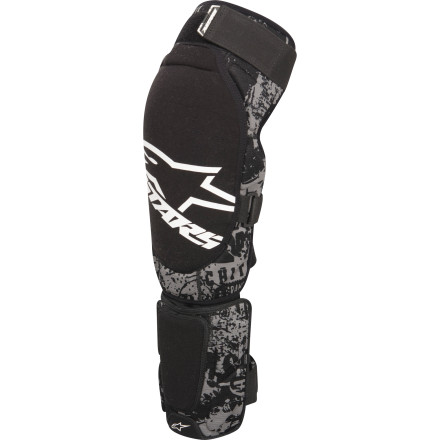 Fitness If you've ever had a rock come off your front wheel and smack your shin, you know that falling isn't the only way to get injured while riding. The folks at Alpinestars know, too, which is why they equipped the Alps Kevlar Shin Guard with a Kevlar shell over the high-absorption foam zoneto stop that rock or tree branch cold, before it can do any damage. The Alps Kevlar Shin Guard is highly flexible and breathable to make it as comfortable as possible. The thermo-formed impact foam comfortably cups your shin for a natural feel, while the advanced open mesh main body fabric forces cooling air to flow through the shin guard. The soft liner feels good against your skin and reduces chafing and irritation, and hook-and-loop fastening straps allow you to wear the guard as tight or as loose as you want to. A tough Kevlar shell covers your shin bones. Under the Kevlar, high-impact foam absorbs the shock and disperses it over a broad area to limit the impact. The ripstop textile outer shell stands up to puncture and abrasion so your guards will live to fight another day. The stretch neoprene panel on the lower edge of the guard comfortably seals out debris, and hook-and-loop tabs at the top allow you to attach the guard to the Alpinestars Alps Kevlar knee guard. The Alpinestars Alps Kevlar Shin Guard comes in two sizes: S/M and L/XL. It is available in Black. - $34.95