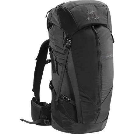 Camp and Hike Whether you're spending the weekend traversing rocky trails, ascending icy falls, or taking laps through backcountry snow fields, carry the necessary equipment in the Arc'teryx Kea 45 Backpack. This top-loading, heavy-duty pack comes in three sizes so that you can get the right fit to comfortably carry all the gear you need for an overnight adventure in the wild. - $258.95
