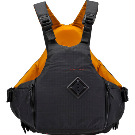 Kayak and Canoe The YTV Personal Flotation Device is Astral Buoyancy's most minimalist whitewater PFD. Utterly simple and streamlined by design, this PFD strikes a powerful balance of protection and mobility. The foam panels sit low and close to your chest and back, wide arm openings ensure full range of motion, and ripstop materials feel feathery light. As a nod toward truly simplifying this PFD, Astral didn't even consider a front-zip opening, instead opting for a pull-over design that saves the few ounces a zipper would have cost. As with any properly executed whitewater vest, you'll find a couple of pockets and the always-essential lash-tab so you can secure a knife or rescue strobe to the chest. Since its creation in 2002, the Astral Buoyancy brand has widened its gaze from the rocky shores of North Carolina rivers to include coastal water and beyond. With this widening gaze, Astral's line of products has expanded to include a number of whitewater and gender-specific PFDs and a variety of boating accessories. Within this lineup, the YTV is Astral's most streamlined men's flotation piece, capable of providing necessary protection for whitewater kayakers and a fit that some sailors may also appreciate. - $119.95