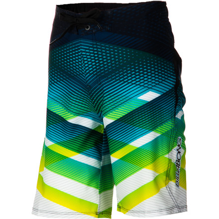 Surf The Billabong Transverse Board Short's four-way stretch fabric with fast-drying H2Repel coating keeps your kid comfortable from beach trips to diving-board sessions. - $34.62
