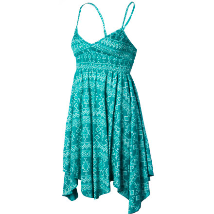 Entertainment Stay cool and comfy when you travel to lower latitudes with the Billabong Wave Daisy Women's Dress. It's made with a light cotton fabric and has a short length for a breezy feel, and the all-over tribal print will get the beach vibes going so you can start off your vacation right. - $43.95
