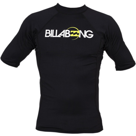 Surf The name of the Billbong All Day Boys' Short-Sleeve Rashguard says it all. Have your boy put it on, slide on his board shorts, and then head out for some surfing, wakeboarding, or plain ol' swimming. The stretchy fabric allows plenty of freedom of movement and it protects his skin from the harsh sun. - $25.95