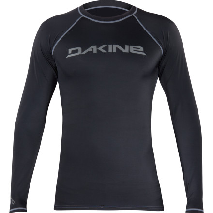Surf You may think at this point in the summer you're too tan to get burned, but you'd be surprised what several hours of intense sunlight while sitting on the open water can do to do. Do yourself a favor and avoid the embarrassment by wearing the Dakine Heavy Duty Men's Long-Sleeve Rashguard. - $34.95