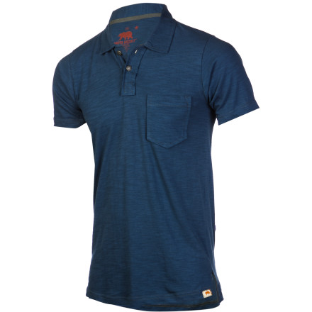 Summer cookouts, long travel days, and lazy Sunday afternoons all call for the Dakota Grizzly Men's Asher Polo Shirt. The lightweight slub knit jersey provides warm weather comfort and a single chest pocket stows small essentials. - $44.95