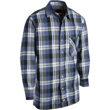 Camp and Hike The pop of a camp fire and hoot of an owl are the only entertainment you need when you wear the Dickies Snap Front Flannel Shirt and head into the woods for the night. - $14.98