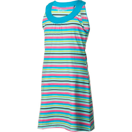 Entertainment Soft, smooth, and comfortably stretchy, the Gracie Girls' Sophia Dress not only looks like a summer's dream on your little princess but feels like one, too. This flattering scoop-neck, sleeveless dress in soft shades or bold prints is an all-season delight. - $43.95
