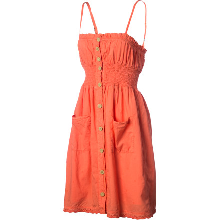 Entertainment The Gramicci Women's Saffron Dress has an old-school homespun look that is perfect for feeding your chickens or walking through a flower-filled meadow. Luckily, it also looks great when  you wear it to that trendy new cafe or the outdoor concert you've been waiting for all summer'in case you don't have chickens or a meadow. - $57.95