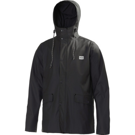 Rainy days call for the Helly Hansen Lerwick Rain Jacket, when you'll appreciate its cool, comfortable fabric and it's easy ability to repel moisture and keep you dry. You get the old-school fisherman jacket style without the heavy, rubbery feel; wear this jacket when rain is in the forecast, but you aren't willing to hide out inside your house. - $109.95