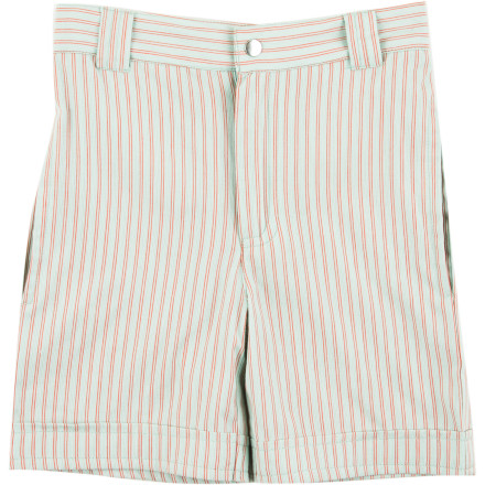 The Kate Quinn Organics Toddler Boys' Pocket Shorts have a lightweight feel that will keep him cool in warm weather and a versatile look that will work for anything from special occasions to family barbeques. - $27.95